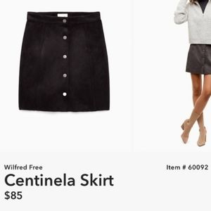 Aritzia Wilfred free centinela a line snap skirt
